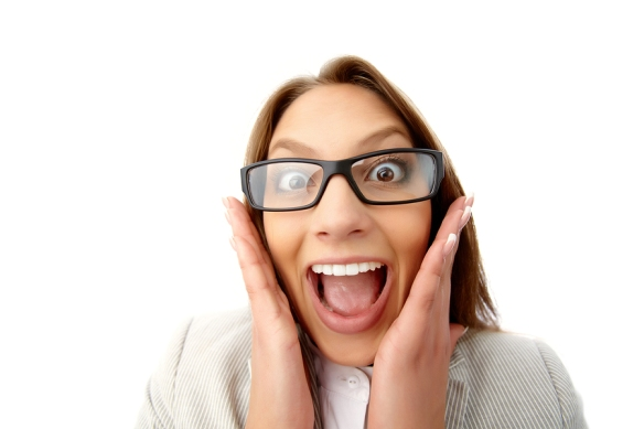Close up of woman screaming in excitment