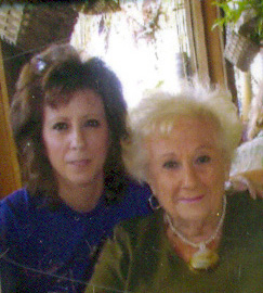 Author Mae Clair with her mother