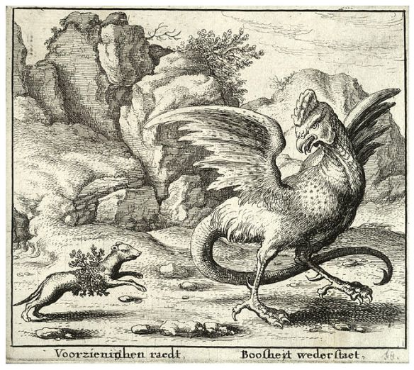 671px-Wenceslas_Hollar_-_The_basilisk_and_the_weasel