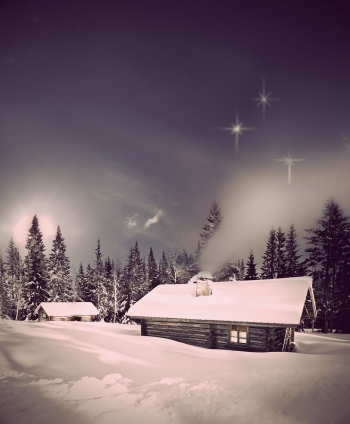 bigstock-Log-Cabin-In-Winter-28568249