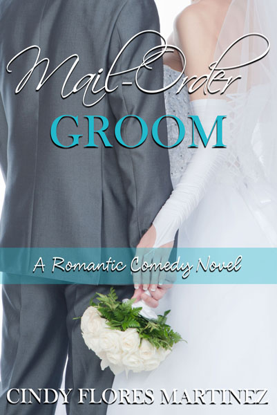 Book cover for Mail-Order Groom depicting a bride and groom from back holding hands