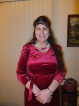 Susie, February 2013, in Red Velvet Dress