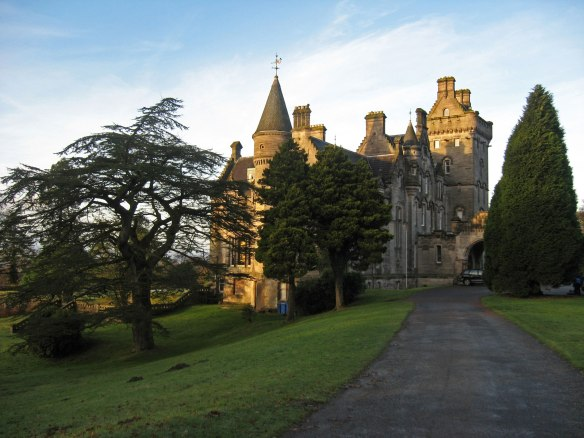 Overtoun House, forbidding Gothic looking abode at end of long drive