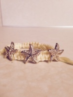Attractive rope and gold starfish bracelet