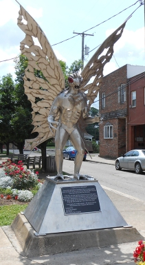 Statue of the Mothman in Point Pleasant, West Virginia