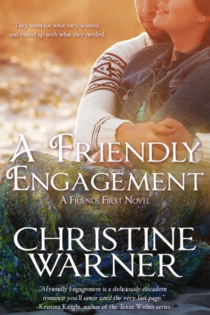 Book cover for A Friendly Engagement, a romance novel by Christine Warner