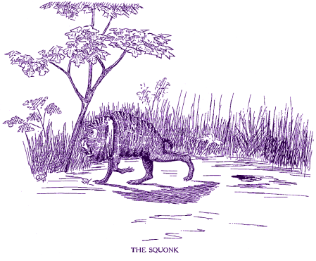 Illustration of the mythical Squonk, a creature rumored to haunt the hemlock forests of northern Pennsylvania