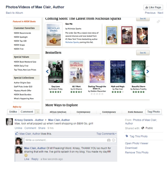screen shot showing MYTH AND MAGIC on the Barnes & Noble Bestseller list