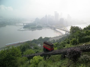 Shot of Pittsburgh with river