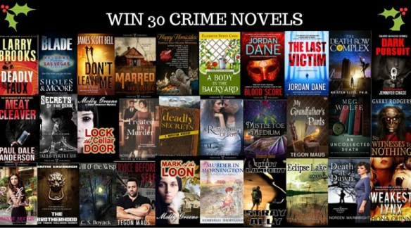 Book cover collection of 30 Crime Novels for giveaway