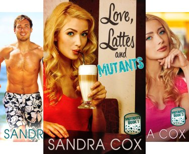 Book cover collection for the Mutant Series, YA novels by Sandra Cox
