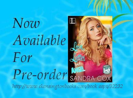 Cover for the book Love, Lattes and Angel, showing a pretty blond girl. YA book by author Sandra Cox