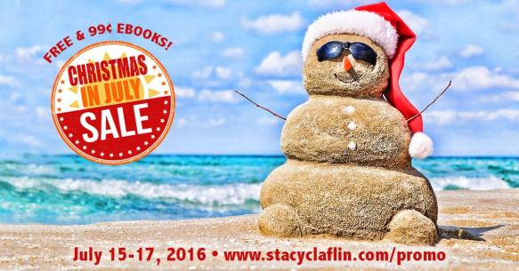 Snowman made of sand on a beach has red Christmas stocking cap and is wearing sunglasses; ocean in the background
