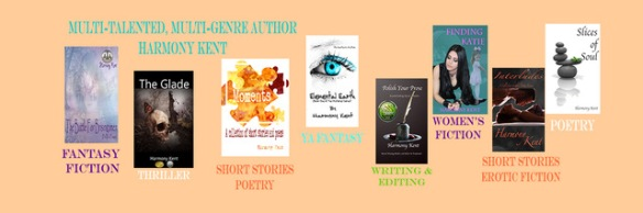 books banner for author Harmony Kent