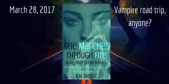 Book cover for She Marches Through Fire by A. M. Manay