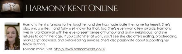 bio box for author Harmony Kent