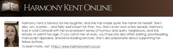 bio box for author Harmony Kent