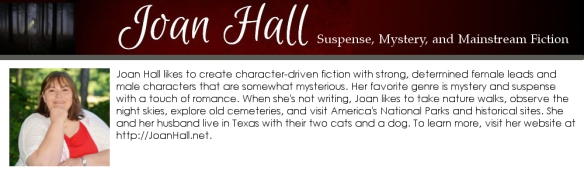 joan hall, author bio box