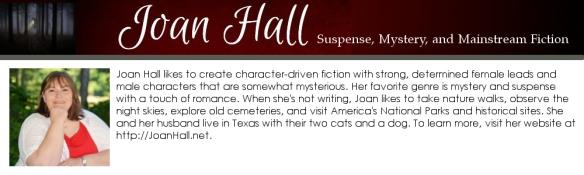 joan hall, author bio box