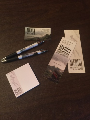 Swag gift pack from author Staci Troilo