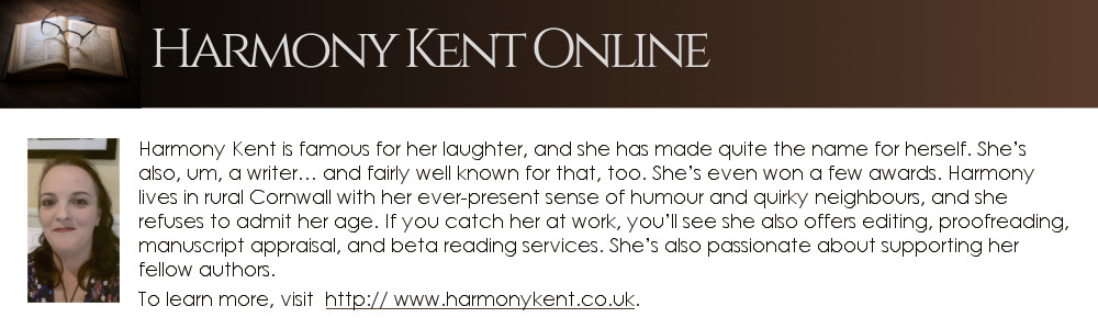 bio box for author, Harmony Kent