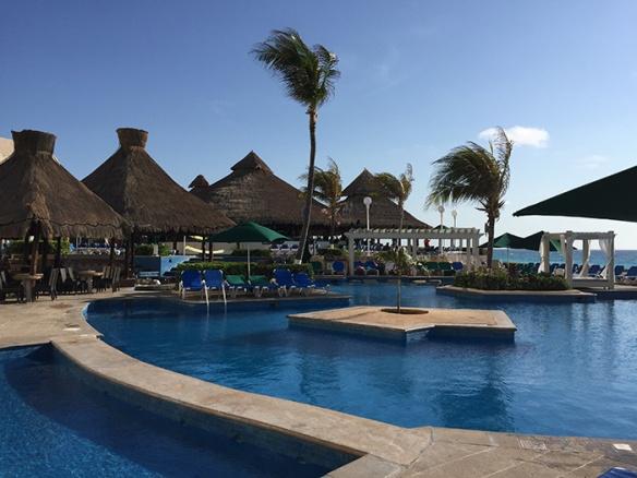 Pool with Bali Huts