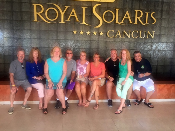 Group shot outside the Royal Solaris