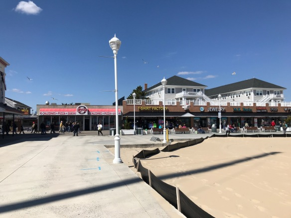 boardwalk with shops and eateries