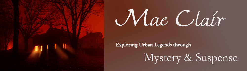 blog header for Mae Clair, mystery and suspense author