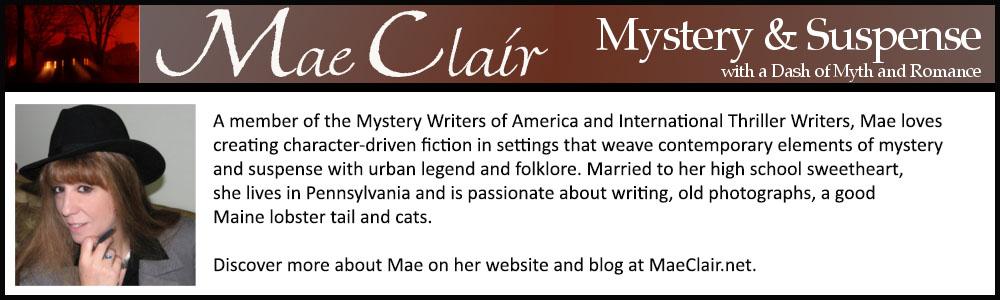 bio box for author, Mae Clair