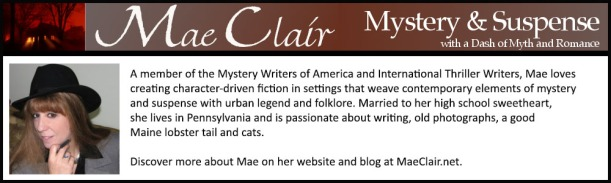 bio box for author, Mae Clair