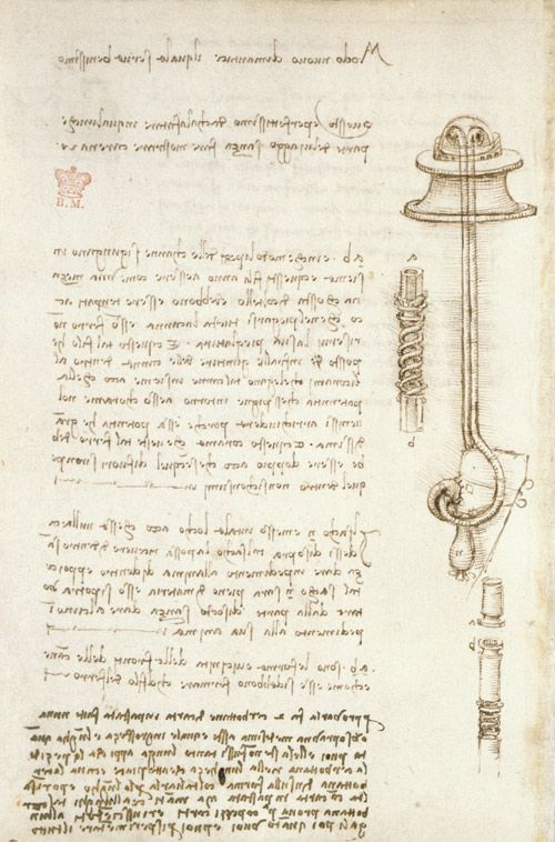 Writings of Leonardo da Vinci [Public domain], via Wikimedia Commons