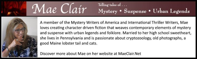 bio box for author Mae Clair