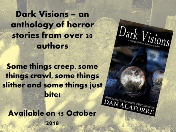 banner ad for Dark Visions, a collection of supernatural stories