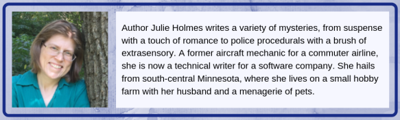 bio box for author, Julie Holmes