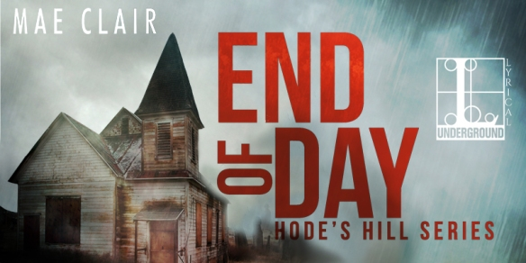 Banner ad for supernatural suspense novel, End of Day by Mae Clair
