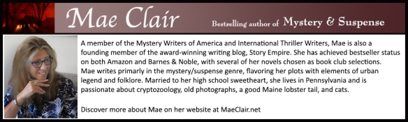 bio box for author Mae Clair