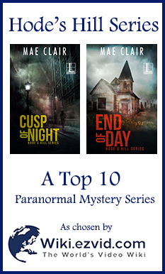 Advertisement for Hode's Hill Series chosen as a Top 10 Paranormal Mystery Series by Wiki.Ezvid
