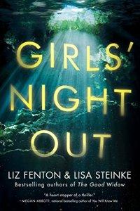 Book cover for Girls Night Out shows light shining into dark water