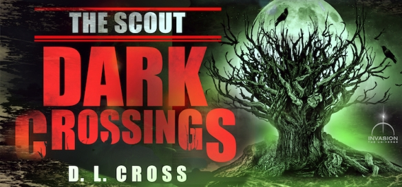 Splash graphic for The Scout: Dark Crossings, a science-fiction novella by D. L. Cross