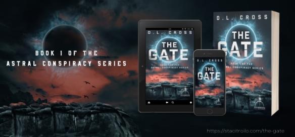 Splash graphic foe The Gate, a science-fiction novel by D. L. Cross
