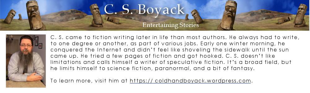 bio box for author, C.S. Boyack