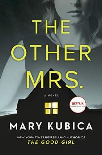 Book cover for The Other Mrs. shows lighted window in gale of dark house, a woman's image in background