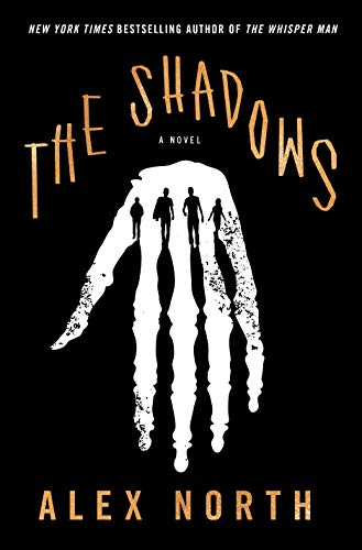 Book cover shows white hand on black background, silhouettes if four people at knuckles of fingers, their shadows stretching to form gaps between the fingers