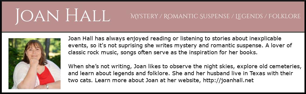 bio box for author, Joan Hall