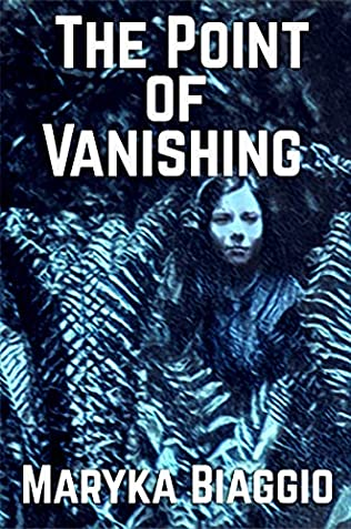 Book cover shows woman surrounded by ferns, blue tint over cover